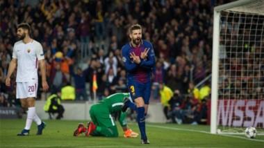Piqué anotó el tercero. Los dos primeros fueron en contra y el cuarto lo marcó Suárez.