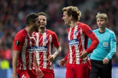 El francés Griezmann anotó el segundo tanto del Atlético de Madrid.