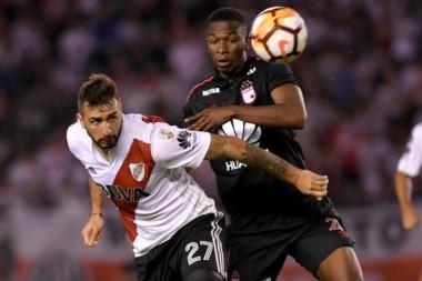 River visita al duro equipo colombiano, con el que empató sin goles en Nuñez.
