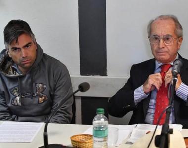 Dúo. Gatica y Jorge Chialva, el conocido abogado de Trelew que lo defenderá en la primera parte de la causa.
