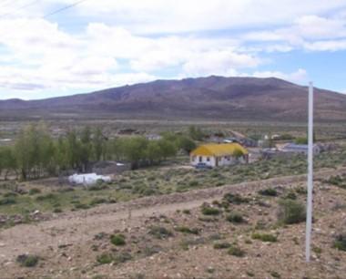 el paraje de Blancuntre, en el interio de la provincia de Chubut.