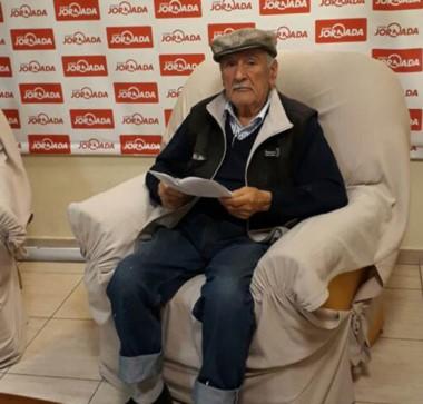Rupercio González tiene 85 años y se jubiló como constructor.