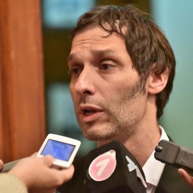 Miguel Arnaudo, presidente de Seros. Hoy pagan a los odontólogos.