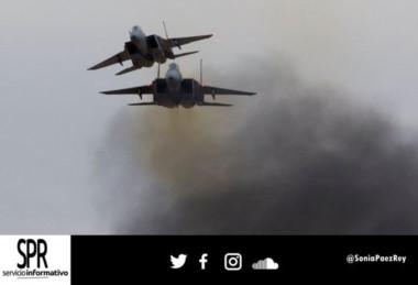 Dos F-15 como los de esta imagen participaron del ataque. (foto gentileza del SPR)