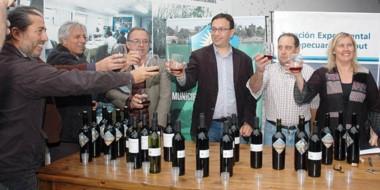 """El Intendente Adrián MAderna dijo  que inaugurarla sala de vinos """"es aportar mayor valor agregado""""."""