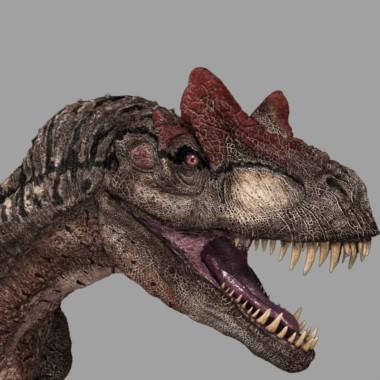 Reconstrucción de un allosaurio, un feroz carnívoro que vivió hace millones de años.