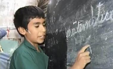 Nicanor con solo 12 años, hizo una obra gigante al darle clases de apoyo a más de 30 niños en su barrio.