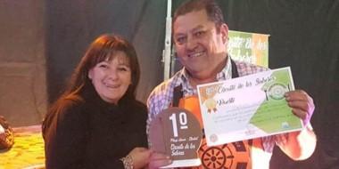El chef Carlos Ríos, flamante ganador del concurso de cocineros realizado el fin de semana en Playa Unión.
