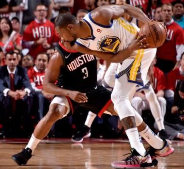 Con 37 de Durant, los Warriors se impusieron 119-106 a Houston Rockets y se quedaron con el 1er juego de las finales de la Conferencia Oeste.