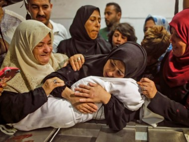 Leila al-Ghandour tenía 8 meses. Foto Mahmud Hams