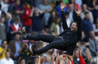 El técnico argentino Diego Simeone suma 6 títulos con el Atlético Madrid.
