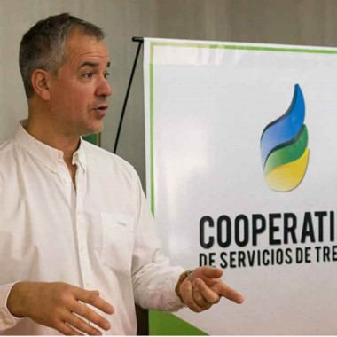 Fabián Gómez Lozano, presidente de la Cooperativa Eléctrica.