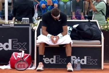 Del Potro abandonó en el Masters 1000 de Roma y activó alarmas para Roland Garros.
