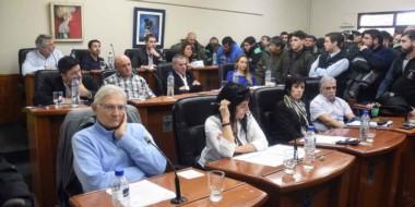 Presentes. Los trabajadores de Servicoop se hicieron presentes en la sesión donde se discutió la factura.