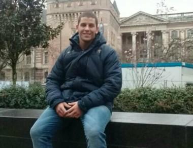 Gonzalo en una gira preparatoria por Francia, sede del Mundial Juvenil.