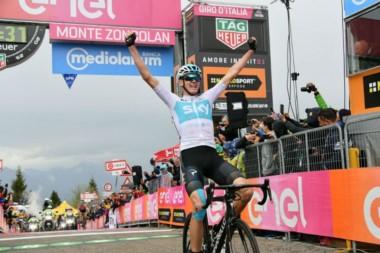 Chris Froome, que no había brillado hasta ahora en el Giro de Italia, se impuso en la 14ª etapa.