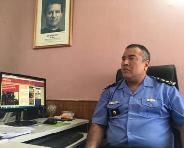 Mayor Victor Acosta, jefe de la Unidad Regional de Puerto Madryn.