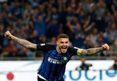 Mauro Icardi marcó un gol en el triunfo de Inter sobre Lazio.
