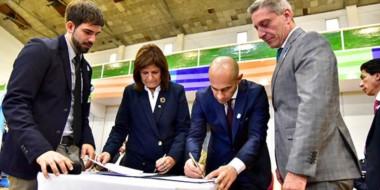 Ayer se firmaron distintos convenios y acuerdos de colaboración entre la Nación y la provincia.