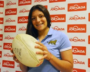 La trelewense Anael Fernández Terenzi integra el equipo de rugby.