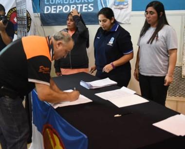 Los convenios que se firmarion con entidades deportivas.