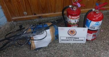 Los elementos fueron robados y luego encontrados en rastrillajes montados cerca del nosocomio rural.
