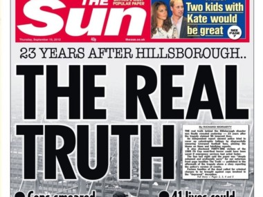 Esots titulares provocaron que todo el país se pusiera en contra del Liverpool y su afición. Todo por culpa de la manipulación de The Sun y los ataques del Gobierno de Margaret Tatcher.