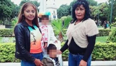 Dalma (izquierda) junto a su mamá y dos de sus hijitos. La joven no habría aguantado el miedo a ser lastimada por los colombianos. (El Tribuno)