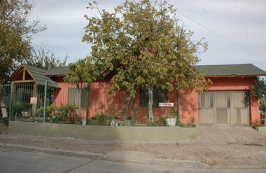 La vivienda de la familia Vidal en el barrio Comercio de Trelew fue el lugar donde se perpetró el robo.