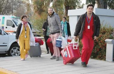 El equipo del INCUCAI que llegó estuvo tres horas en Trelew.