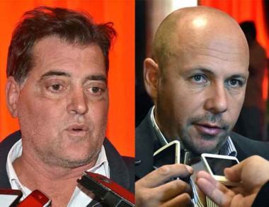Desacuerdo. Agulleiro (izquierda) y Sastre, enojados con Arcioni.
