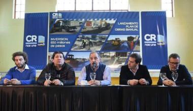 El intendente Linares encabezó la presentación del plan de obras.