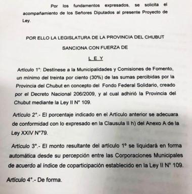El proyecto que ya ingresó a Legislatura y se discutirá en Comisión.