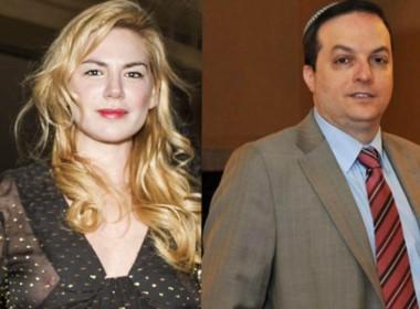 Esmeralda Mitre y el ex titular de la DAIA, Ariel Cohen Sabban, quien le tocó
