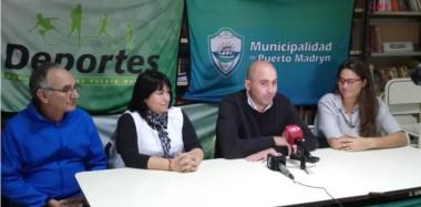 La conferencia de prensa estuvo a cargo de Diego González y fue acompañado por María Eugenia Besson, Nancy Pazos y Jorge Omar.