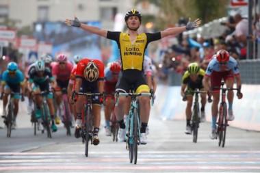 Enrico Battaglin venció en la quinta etapa del Giro de Italia.