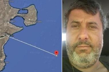 """El lugar en donde perdió contacto el """"Rigel"""", que era capitaneado por Salvador Taliercio."""