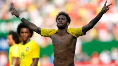 Con un gol de Neymar, Brasil goleó a Austria en su último amistoso antes del inicio del Mundial.