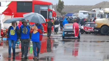 Bajo agua. La lluvia del domingo no le dio a los pilotos la seguridad necesaria para correr las finales.