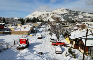 Esquel. La ciudad cordillerana vestida de blanco en lo que se anticipa como un invierno muy duro en Chubut.