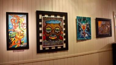 La artista Haidee Gómez, de Rawson,  expone sus pinturas en el MMAV.