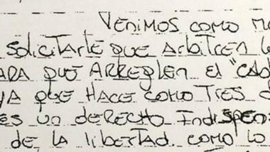 El hábeas corpus de puño y letra de los internos de la Comisaría 3ª.