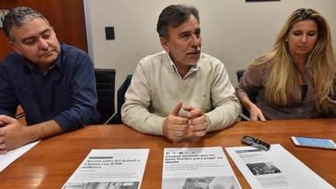 El bloque de Cambiemos brindó una conferencia de prensa.