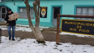 La Brigada de Esquel efectuó la diligencia en el municipio del interior.