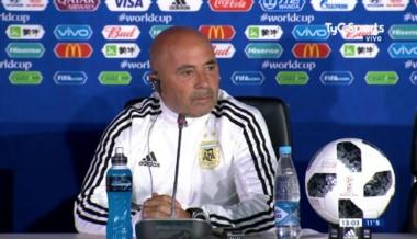 Sampaoli, en conferencia de prensa: