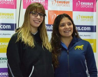 Julieta Lema y Anael Fernández Terenzi compartieron ayer sus experiencias deportivas en Chubut Deportes.