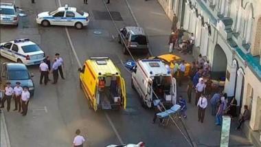Ocho heridos al arrollar un taxi a la multitud junto a Plaza Roja de Moscú.