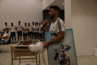 Es la tercera vez que Sergio Agüero celebra su cumpleaños en la concentración previa al Mundial.