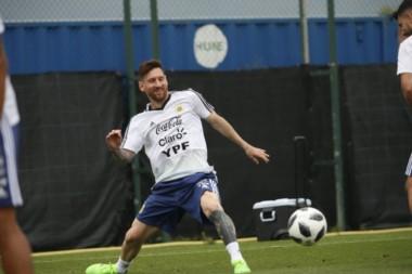Segunda sesión de entrenamiento de Argentina en Barcelona. Continúa la puesta a punto.