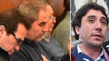 Vinculaciones. Una postal de los detenidos por el Operativo Revelación, complicados por el testimonio del exministro Gilardino (izquierda).